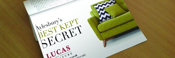 Magazine advert design in Aylesbury